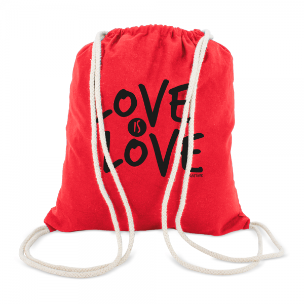 Bolsa Mochila Roja Love Is Love